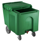Choice 125 lb. Green Mobile Ice Bin