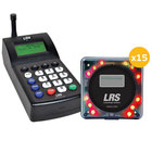 LRS Guest Messaging Paging System 15 Pager Kit with Connect Transmitter