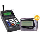 LRS Staff Messaging Paging System 10 Pager Kit with Connect Transmitter