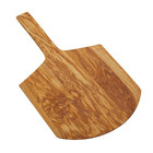 American Metalcraft OWP15 24 inch x 14 inch Olive Wood Serving Peel