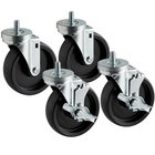 6 inch Swivel Stem Casters for Beverage-Air Equipment - 4/Set