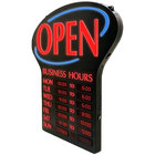 19 11/16 x 25 3/8 inch Digital Open Business Hours LED Sign