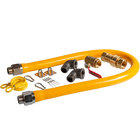 """Regency 48"""" Mobile Gas Connector Hose Kit with 2 Elbows, Full Port Valve, Restraining Device, and Quick Disconnect - 1"""""""