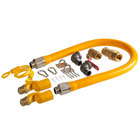 """Regency 36"""" Mobile Gas Connector Hose Kit with 2 Elbows, Full Port Valve, Restraining Device, Quick Disconnect, and 2 Swivel Connectors - 3/4"""""""