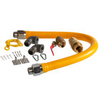 Regency 36 inch Mobile Gas Connector Hose Kit with 2 Elbows, Full Port Valve, Restraining Device, and Quick Disconnect - 1 inch