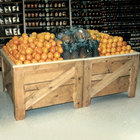 Orchard Produce Display Bin 40 1/2 inch x 50 inch with Liner - Pine