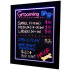 Illuminated Multi-Color LED Write On Marker Board - 28 inch x 22 inch