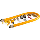 Regency 48 inch Mobile Gas Connector Hose Kit with 2 Elbows, Full Port Valve, Restraining Device, Quick Disconnect, and Swivel Connector - 3/4 inch