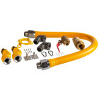 Regency 36 inch Mobile Gas Connector Hose Kit with 2 Elbows, Full Port Valve, Restraining Device, Quick Disconnect, and 2 Swivel Connectors - 1 inch