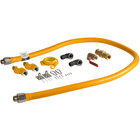 Regency 72 inch Mobile Gas Connector Hose Kit with 2 Elbows, Full Port Valve, Restraining Device, Quick Disconnect, and 2 Swivel Connectors - 3/4 inch