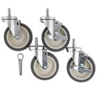 Beverage-Air 61C01-014D-01 Equivalent 5 inch Swivel Stem Casters   - 4/Set
