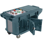 Cambro VBRUTHD6186 Navy Blue 6' Versa Ultra Work Table with Storage and Heavy-Duty Casters