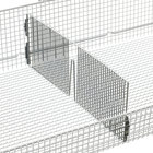Metro QB18D qwikSIGHT Front to Back Wire Basket Divider - 18 inch x 6 inch