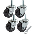 3 inch Swivel Stem Casters for Beverage-Air LV Series   - 4/Set