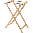 Aarco Natural Folding Wood Tray Stand - 31