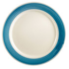 CAC R-8-BLU Rainbow Dinner Plate 9 inch - Blue - 24/Case