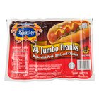 Kunzler 3 lb. Jumbo 24 Count Pack 8-1 Size Regular Franks - 8/Case