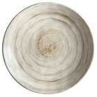 Elite Global Solutions D61R Van Gogh Taupe 6 1/8 inch Round Melamine Plate - 6/Case