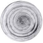 Elite Global Solutions D8125R Van Gogh Black 8 1/2 inch Round Melamine Plate - 6/Case