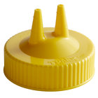 Vollrath 2300-08 Traex® Yellow Twin Tip™ Wide Mouth Bottle Cap
