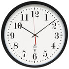 The Chicago Lighthouse 67403302 16 1/2 inch Atomic Slimline Contemporary Black Clock