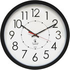 The Chicago Lighthouse 67801103 14 1/2 inch Electric Contemporary Black Clock