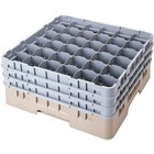Cambro 36S534184 Beige Camrack Customizable 36 Compartment 6 1/8 inch Glass Rack