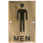 Tablecraft 465635 Men's Restroom Sign - Bronze, 6 inch x 4 inch