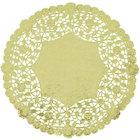 10 inch Gold Foil Lace Doily - 500/Case