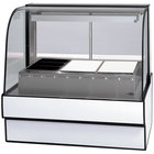 Federal Industries CG7748HD 77 inch Full Service Heated Display Case with Curved Front - 120/208-240V