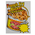 12 inch x 16 inch Window Cling with French Fry Bucket Design