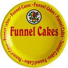 9 inch Funnel Cake Paper Plate - 1000/Case