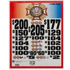 VFW 3 Window Pull Tab Tickets - 3132 Tickets per Deal - Total Payout: $2410