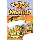 12 inch x 16 inch Window Cling with Nachos Mucho Design