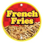 12 inch Round Concession Stand Sign with French Fry Design - 2/Pack