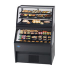 Federal CD3628/RSS6SC 72 inch Black Dual Service Dual Temperature Merchandiser