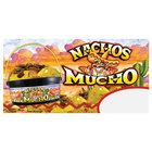 12 inch x 24 inch Rectangular Concession Stand Sign with 24 oz. Nachos Mucho Design