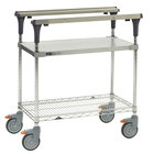 Metro MS1830-FGBR PrepMate MultiStation with Galvanized and Brite Zinc Wire Shelving - 32 inch x 19 3/8 inch x 39 1/8 inch