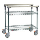 Metro MS1824-NKNK PrepMate MultiStation with MetroSeal 3 Wire Shelving - 26 inch x 19 3/8 inch x 39 1/8 inch