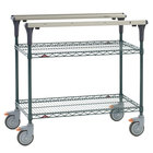 Metro MS1848-NKNK PrepMate MultiStation with MetroSeal 3 Wire Shelving - 50 inch x 19 3/8 inch x 39 1/8 inch