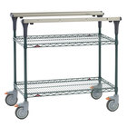 Metro MS1836-NKNK PrepMate MultiStation with MetroSeal 3 Wire Shelving - 38 inch x 19 3/8 inch x 39 1/8 inch