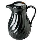 Vollrath 52142 SwirlServe Tilt & Pour 0.6 Liter Black Beverage Server