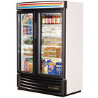 True GDM-35SL-RF-LD White Slim Line Radius Front Refrigerated Glass Door Merchandiser - 16.4 Cu. Ft.
