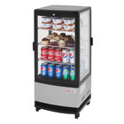 Turbo Air CRT-77-2R-N 17 inch Diamond Show Case Glass Sided Pass-Thru Countertop Display Refrigerator