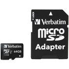 Verbatim 44084 Premium 64 GB MicroSDXC UHS-I V10 U1 Class 10 Memory Card