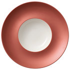 Villeroy & Boch 16-4070-2704 Copper Glow 11 1/4 inch Copper Rim with 5 1/2 inch White Well Premium Porcelain Deep Plate - 6/Case