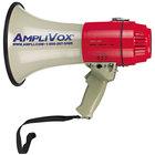 AmpliVox S601 MityMeg 15W White Piezo Dynamic Megaphone - 5/8 Mi. Range