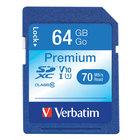 Verbatim 44024 Premium 64 GB SDXC UHS-I V10 U1 Class 10 Memory Card
