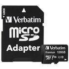 Verbatim 44085 Premium 128 GB MicroSDXC UHS-I Class 10 Memory Card with Adapter