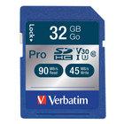 Verbatim 98047 Pro 600X 32 GB SDHC UHS-I V30 U3 Class 10 Memory Card